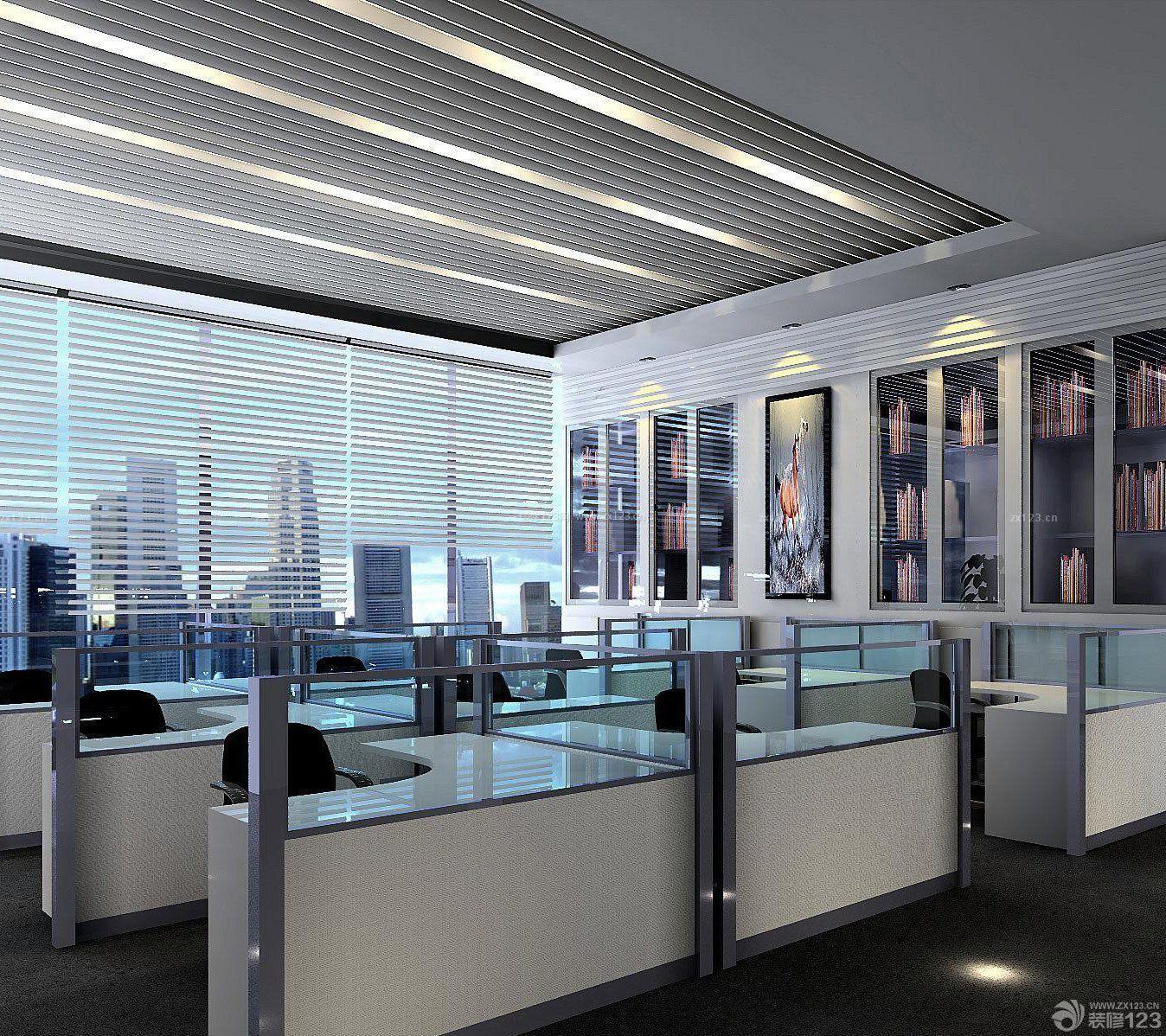 办公室简单装修方案-办公室简单装修图片-200平米办公