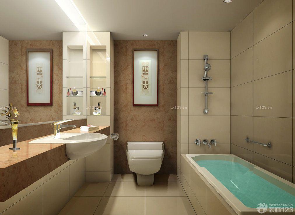 最新家庭卫生间墙面设计装修效果图大全2015图片