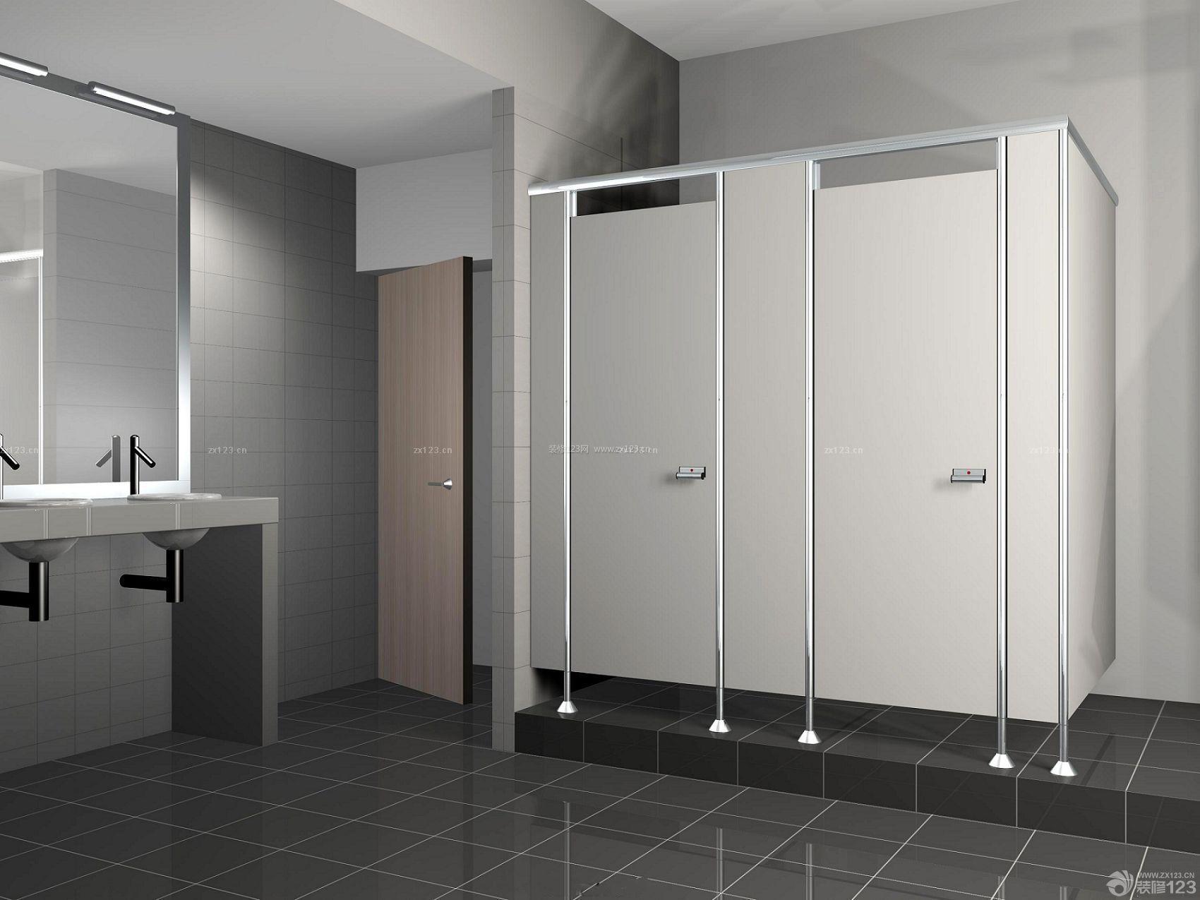 公共厕所室内设计效果图纸