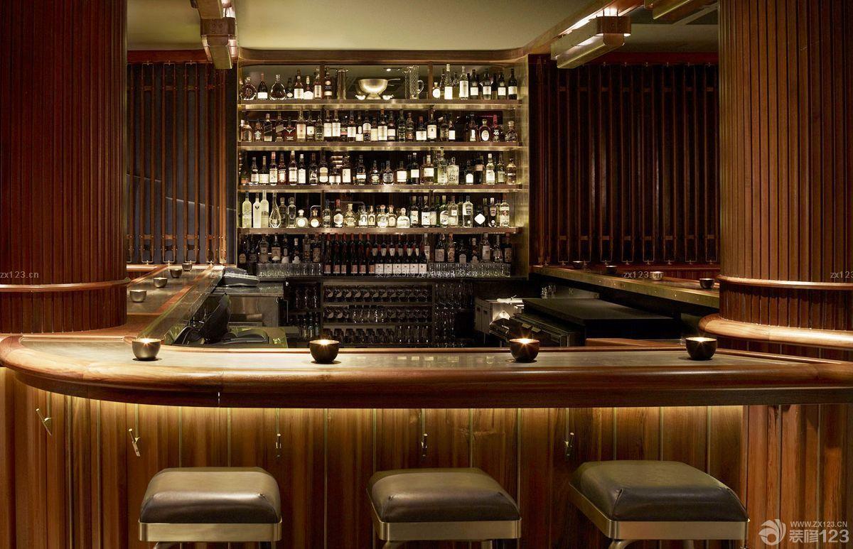 创意酒吧吧台酒柜设计效果图赏析图片
