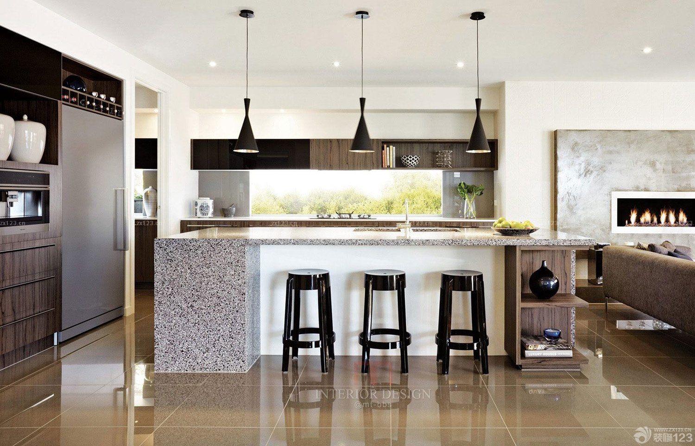 50平米小户型开放式厨房装修设计效果图