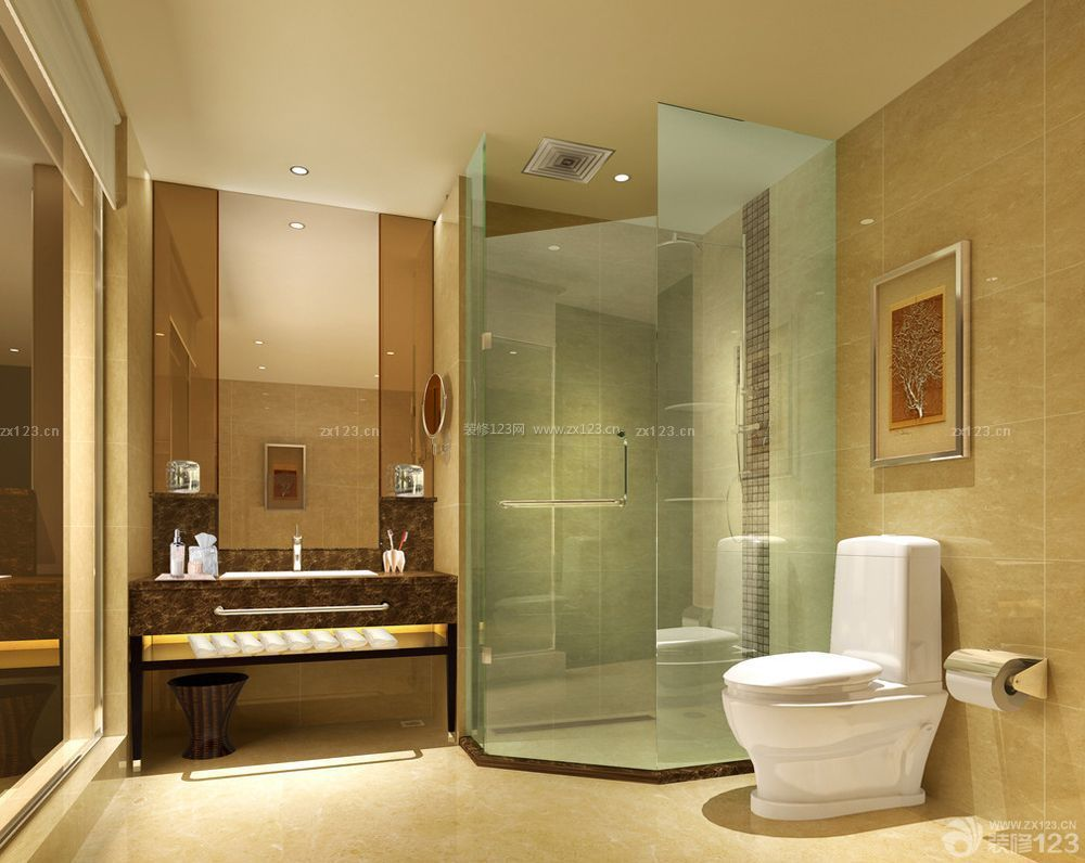 卫生间浴室玻璃门装修图片大全