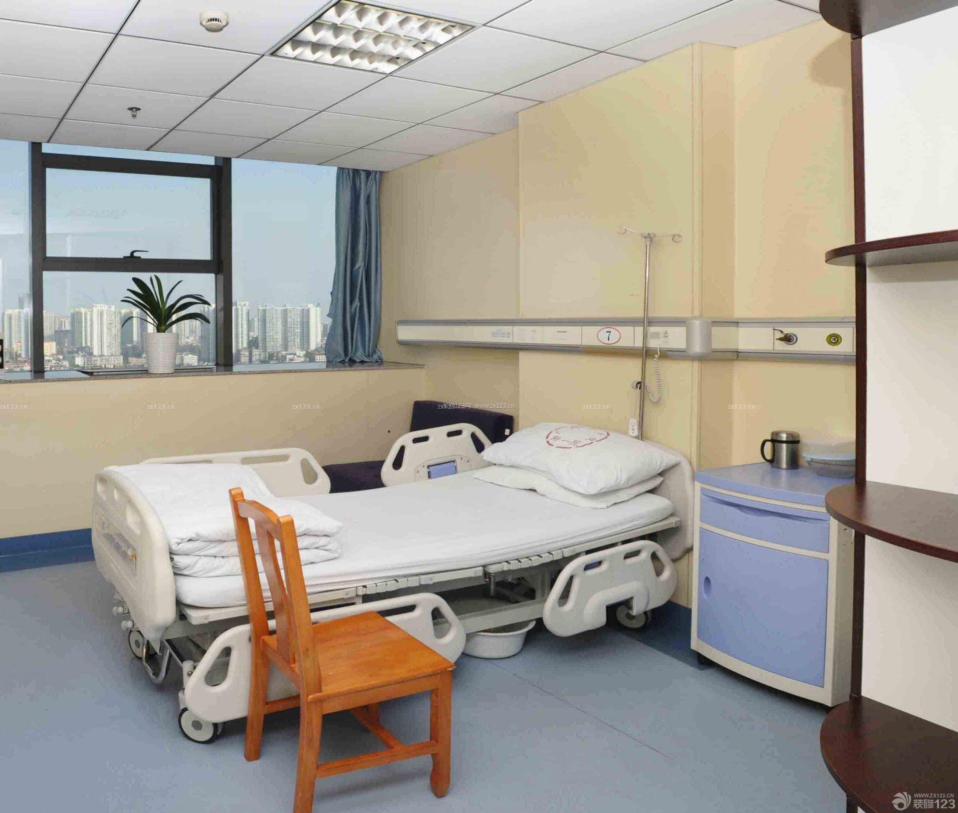 医院单人病房窗帘设计效果图欣赏