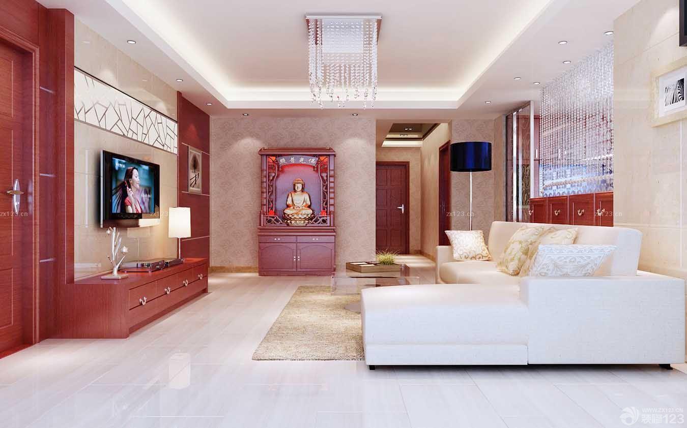 中式80平米家装两室一厅装修效果图