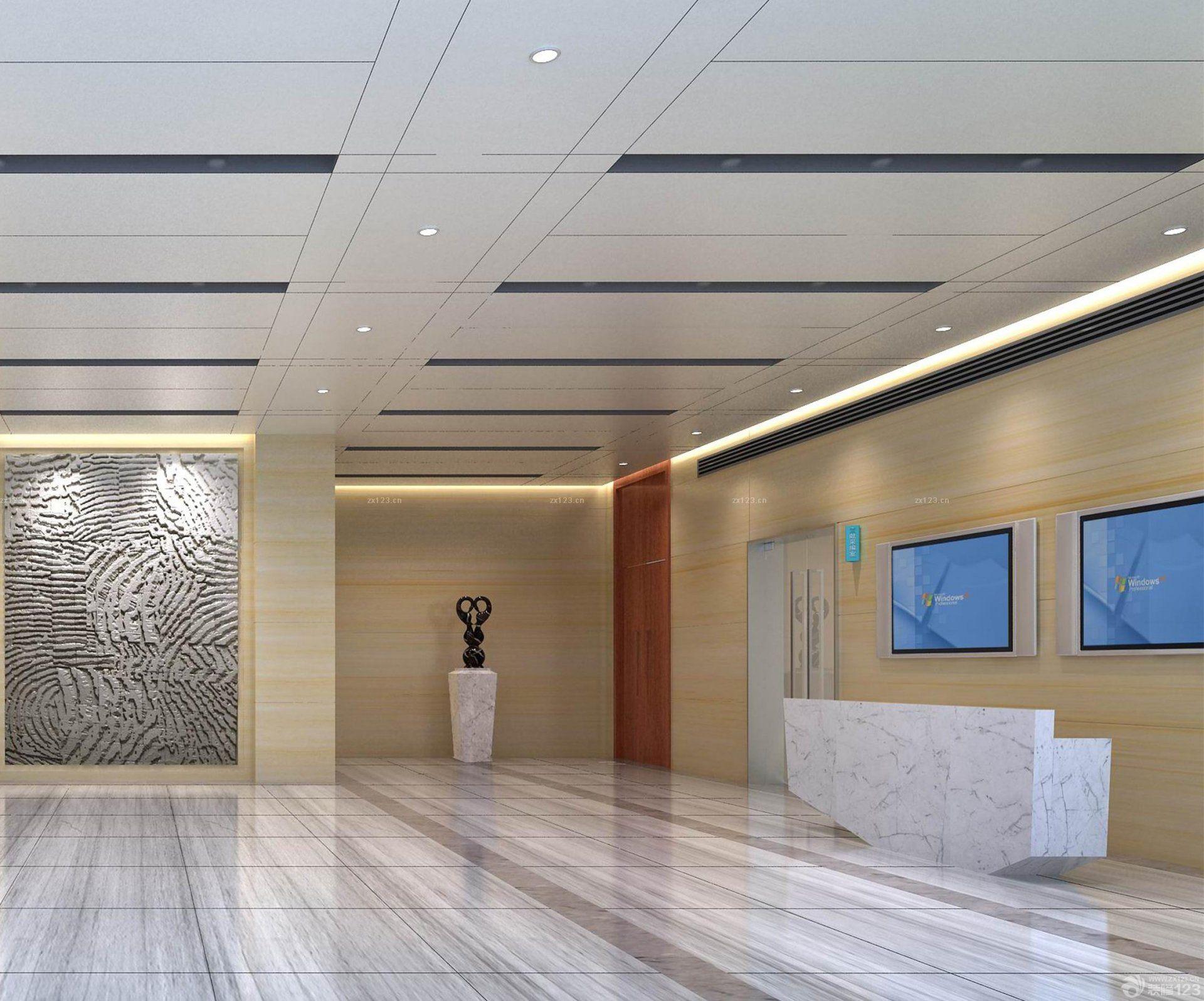 医院大厅吊顶设计装修效果图图片欣赏