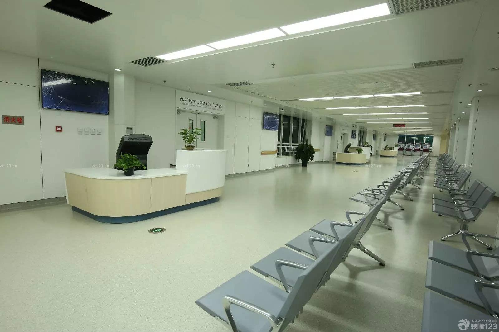 最新现代医院大厅天花板设计装修图片