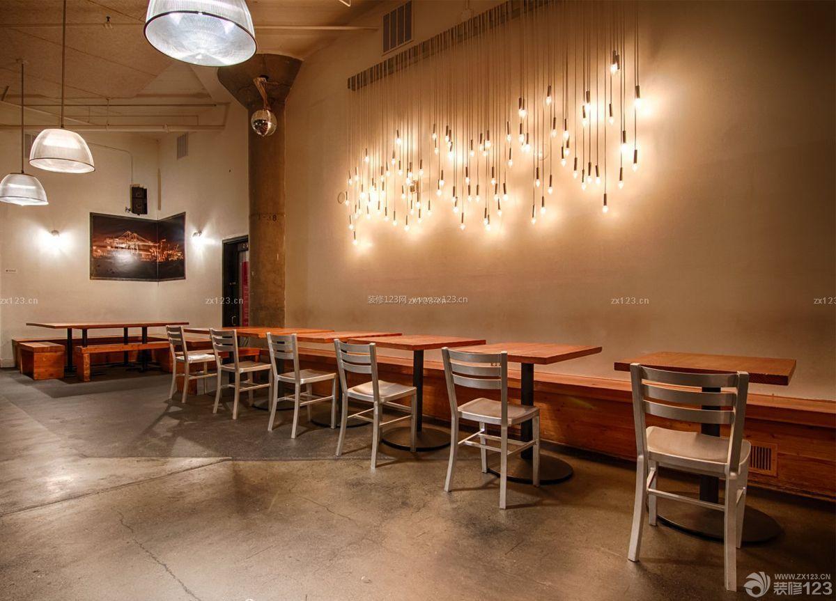 酒吧咖啡厅墙砖墙面装修效果图片
