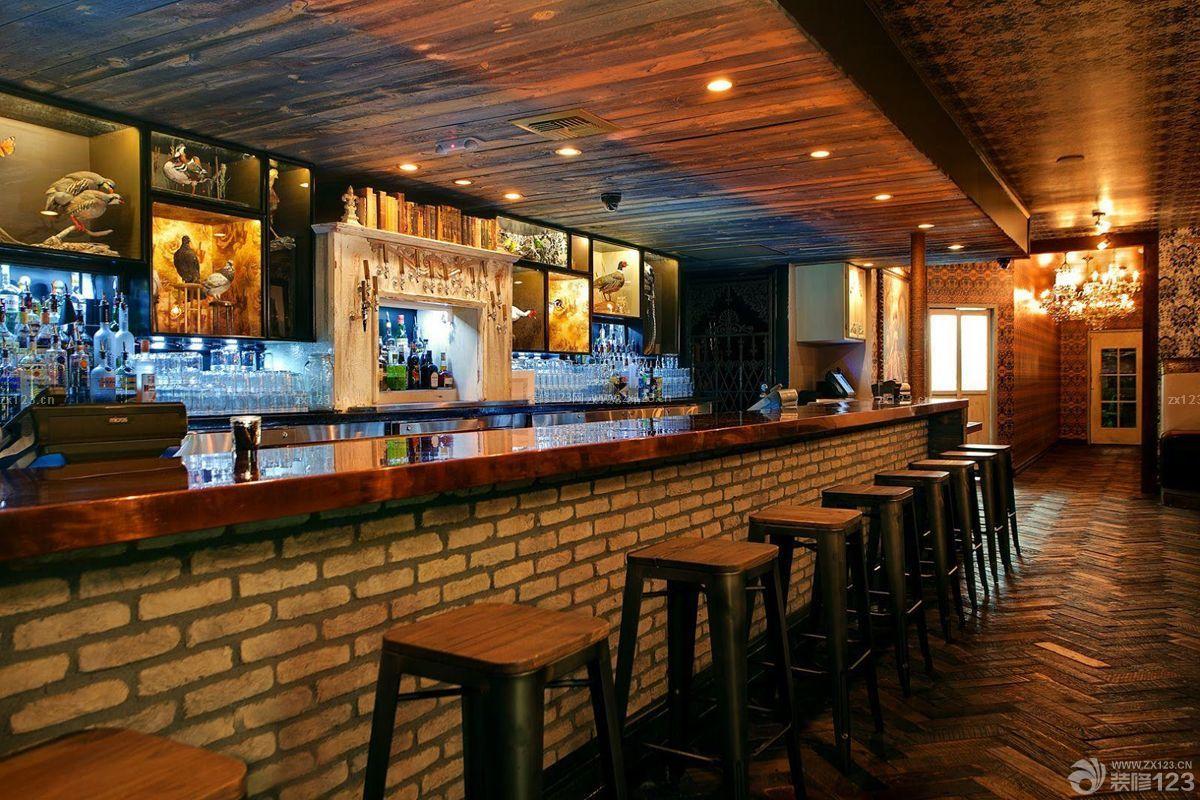 复古美式风格酒吧咖啡厅效果图