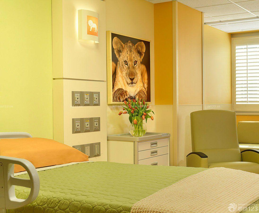 私人医院病房背景墙装修效果图片