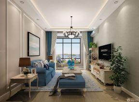 80平两室一厅装修图 美式客厅装修效果图