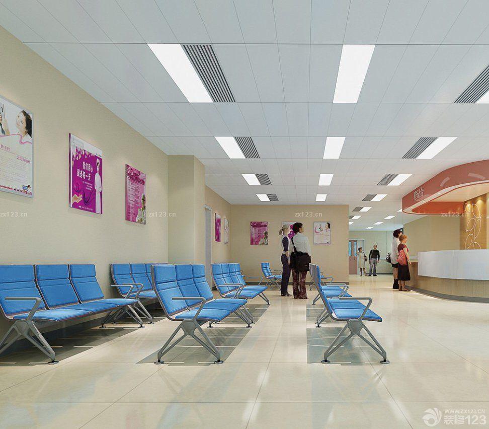 现代医院大厅吊顶设计装修效果图大全