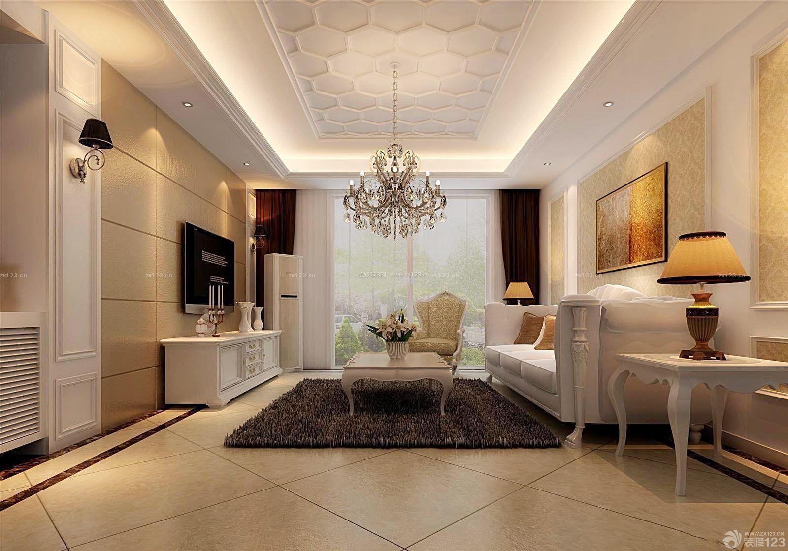 古典風格90平米兩室一廳裝飾裝修效果圖片圖片