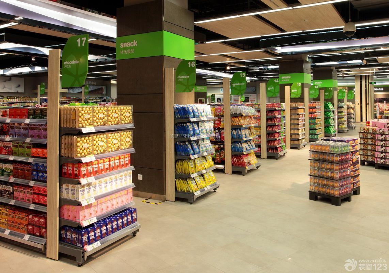 120平方房子想开超市,如何摆放货架? 商业房子超市摆放货架图片