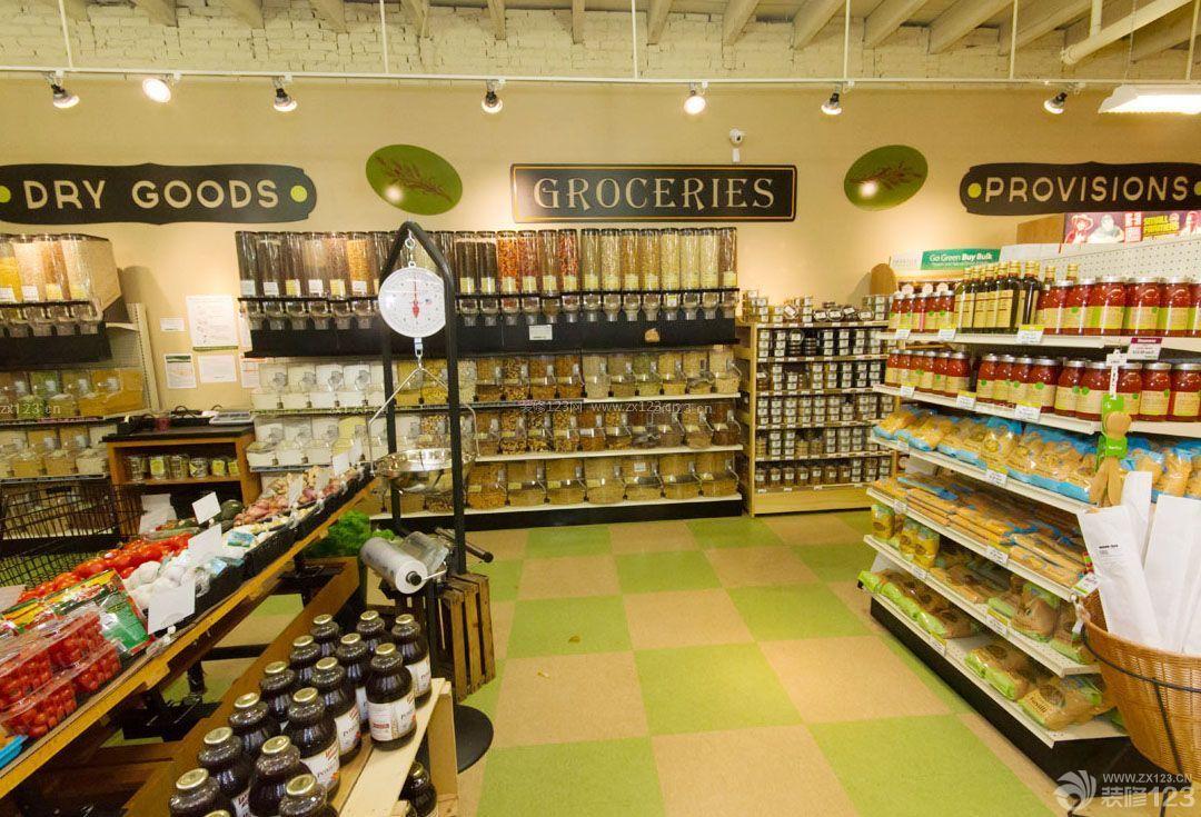 欧美小超市装修设计效果图图片