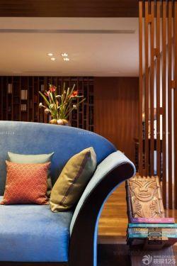 東南亞風格客廳沙發裝飾圖片