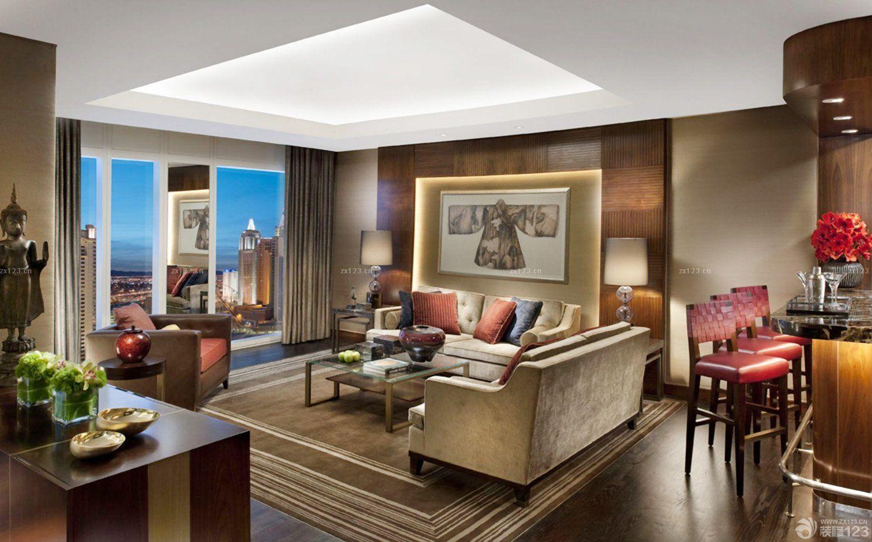 2016交换空间长方形客厅装修效果图片