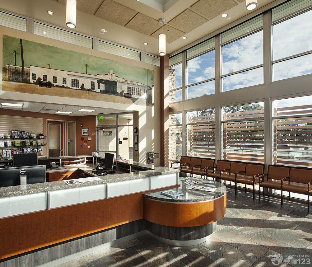 国外动物医院大厅装修效果图片
