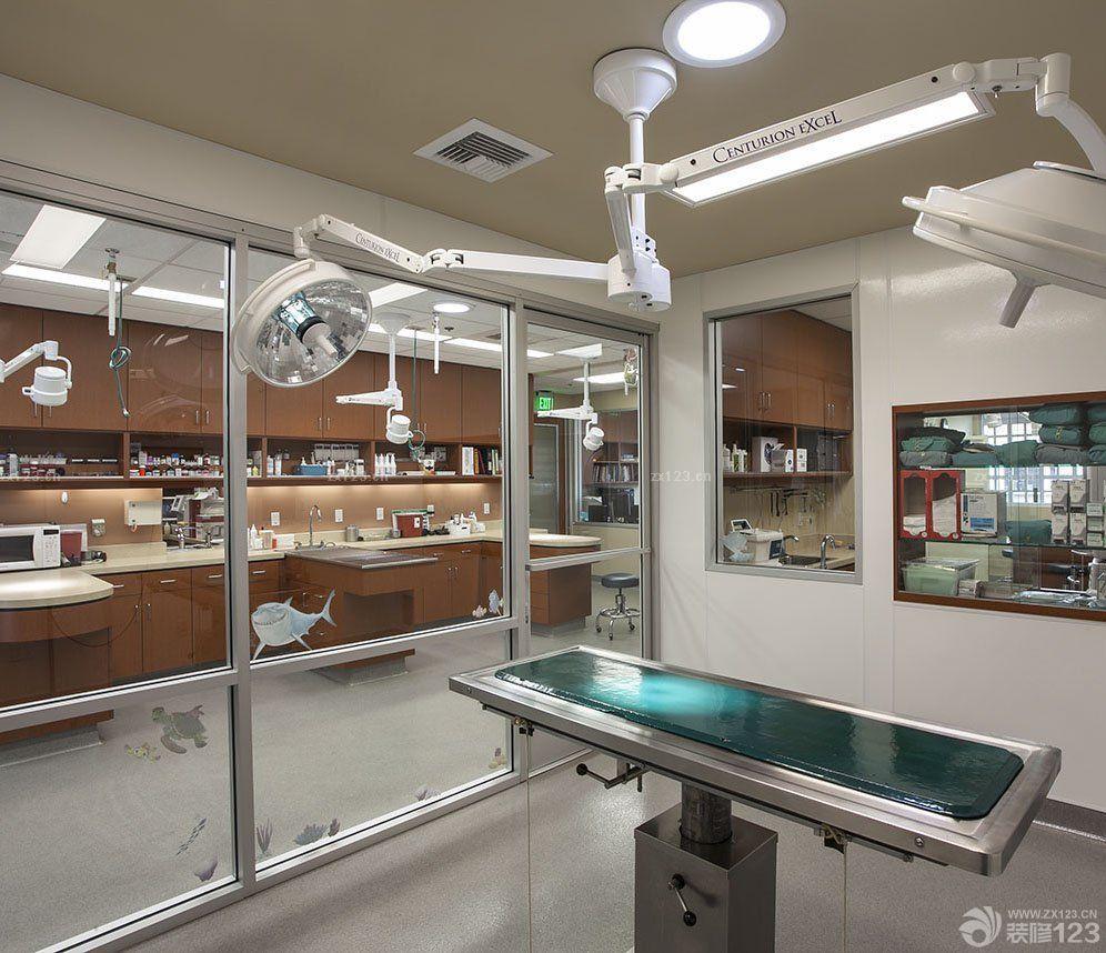 动物医院室内玻璃隔断装修效果图