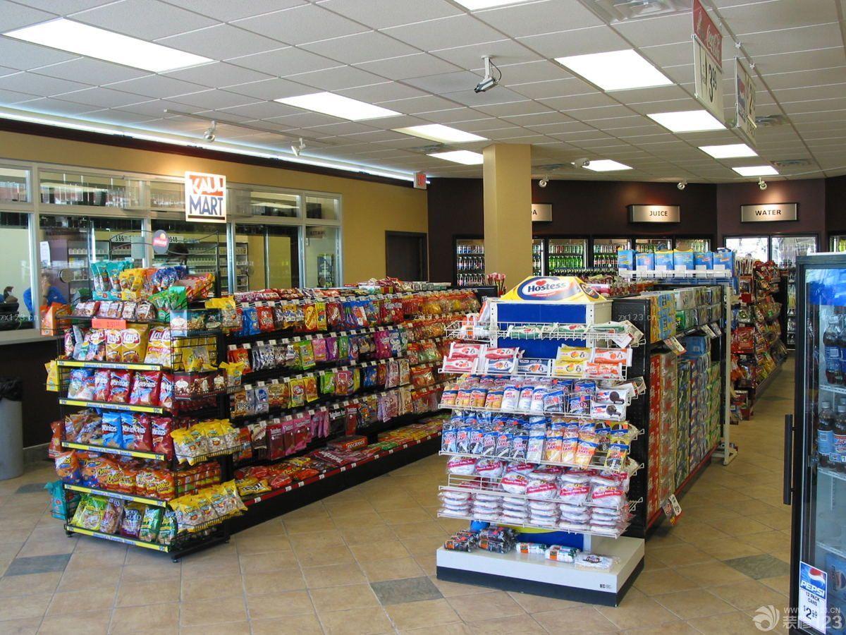 小型超市扣板吊顶装修效果图片