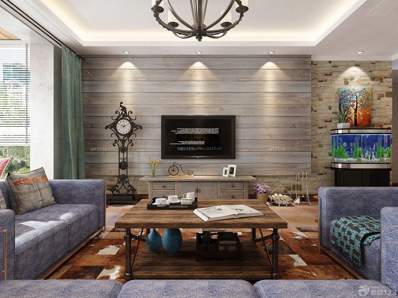 欧式客厅微晶石瓷砖背景墙装修效果图图片