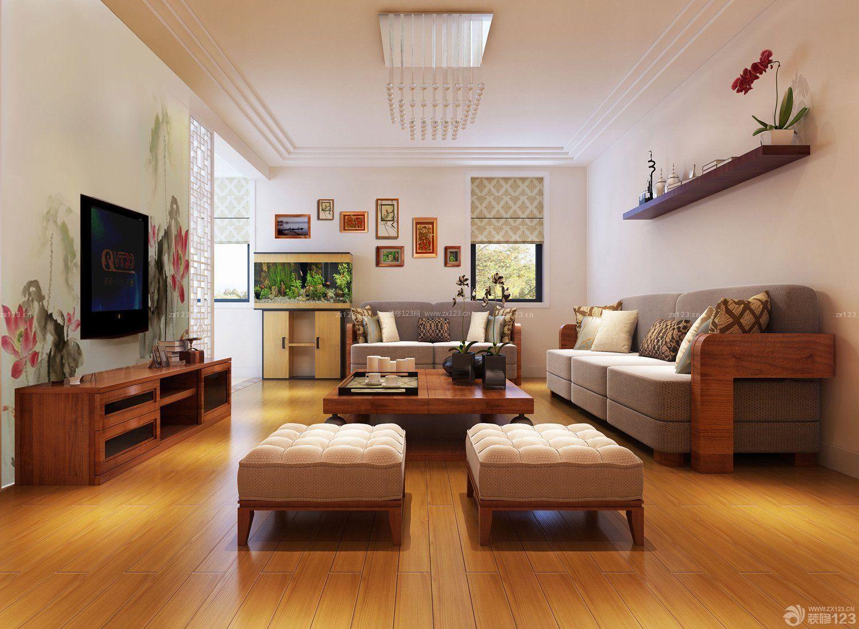 交换空间现代简约小户型客厅旧物改造图_装修123效果图