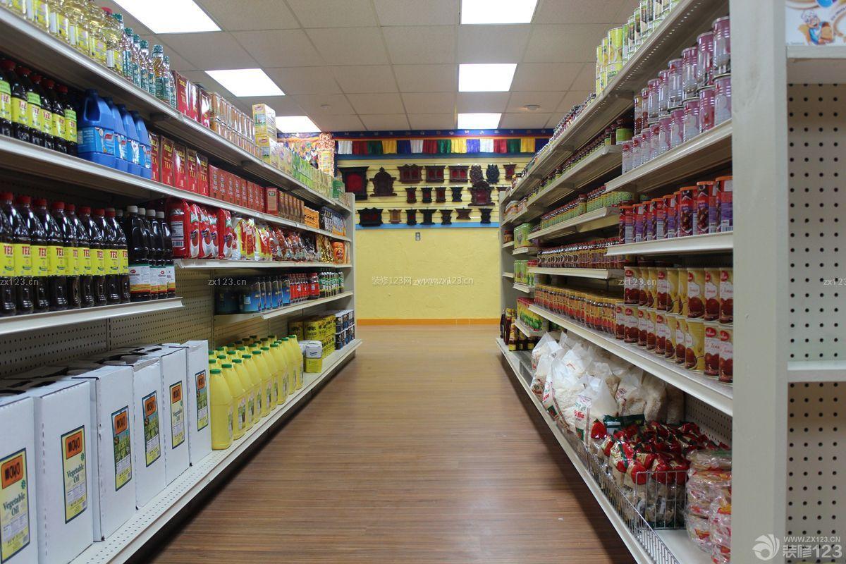 40-50平米超市背景墙设计装修效果图