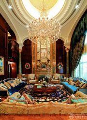 英伦风格别墅客厅装修效果图片