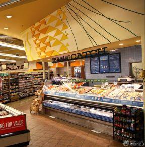 超市装饰设计图片 手绘墙画