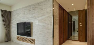 115平米房子大理石电视背景墙装饰效果图