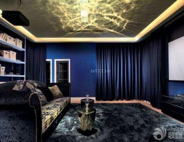 时尚别墅室内客厅天花造型设计