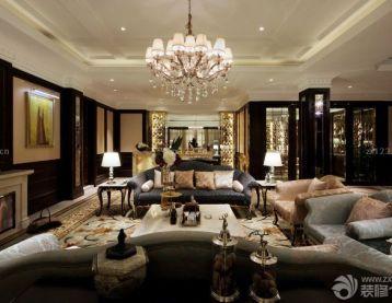 法式浪漫风格起居室设计效果图