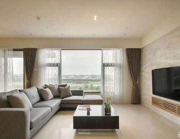 115平米房子客厅沙发摆放装饰装修效果图片