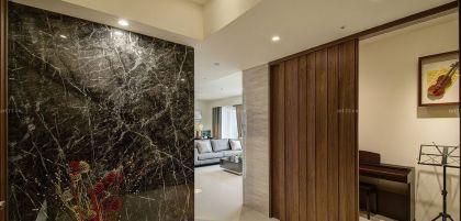 115平米房子石材墙面装修效果图片