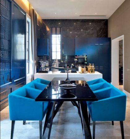 时尚别墅餐桌颜色搭配设计