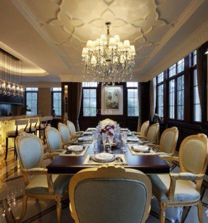 法式风格餐厅吊顶装修效果图样