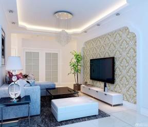 80平房子装修设计图 北欧风格客厅效果图