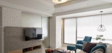 现代时尚室内客厅电视墙设计装修