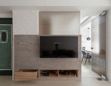 现代简约风格小电视墙装修图