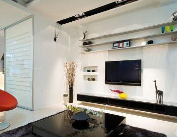 温馨小户型客厅电视墙装修设计效果图片