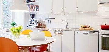 现代风格白色橱柜装修效果图片