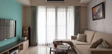 现代风格客厅窗帘装修效果图片欣赏