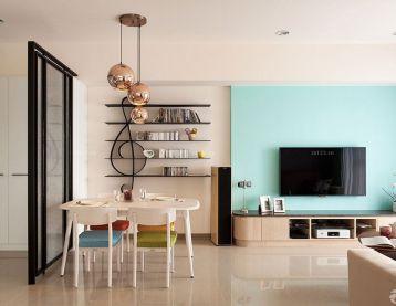 温馨小户型客厅电视墙装修设计效果图片2016