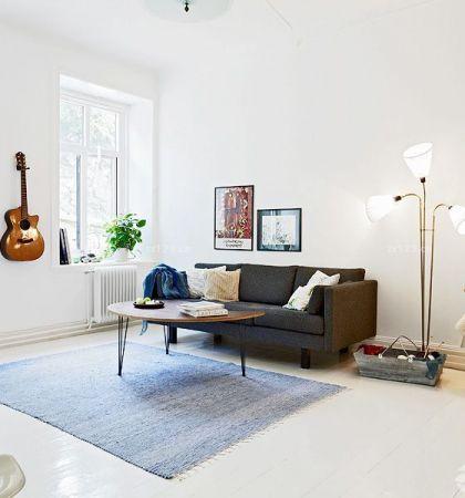 现代欧式小户型沙发背景墙装修效果图片