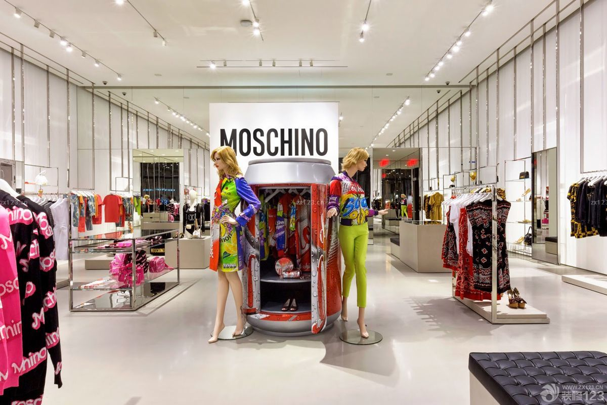 时尚商场服装店白色地砖装修效果图片