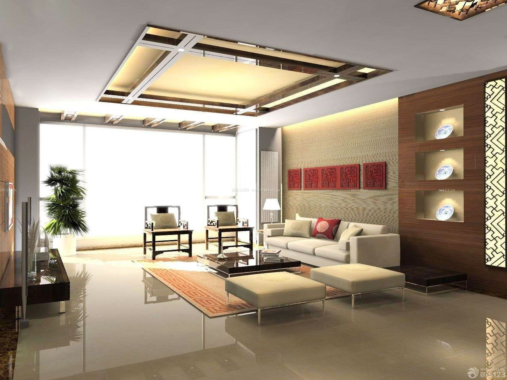 现代中式90平方的房子装修设计图