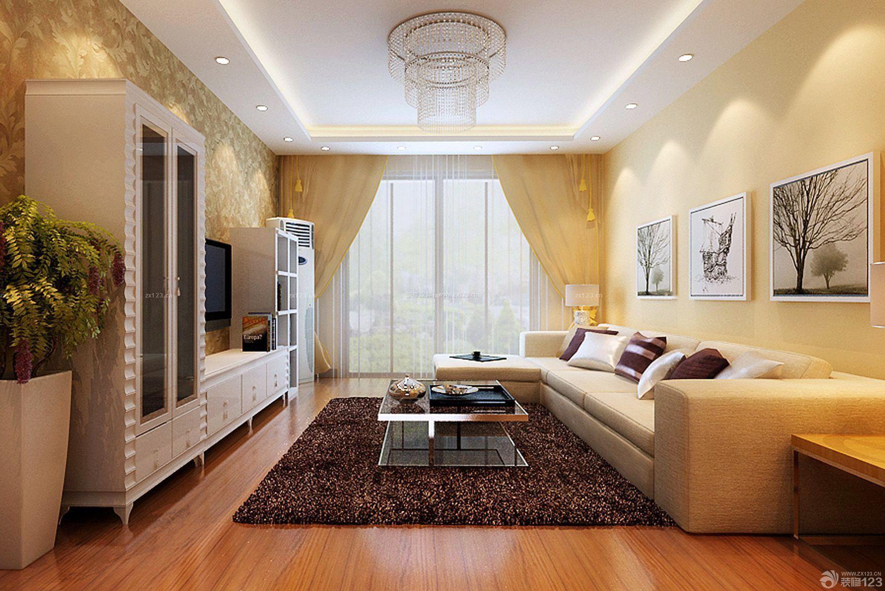 欧式80平方房子电视柜装修效果图片