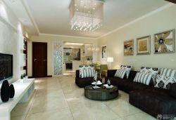 小户型客厅地板砖装修效果图