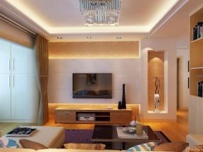 80平方房子裝修圖片 暖色調客廳裝修