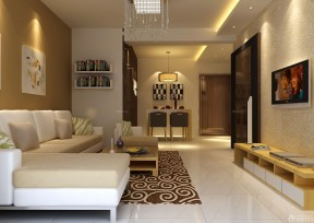80平方房子装修效果图 壁纸电视背景墙