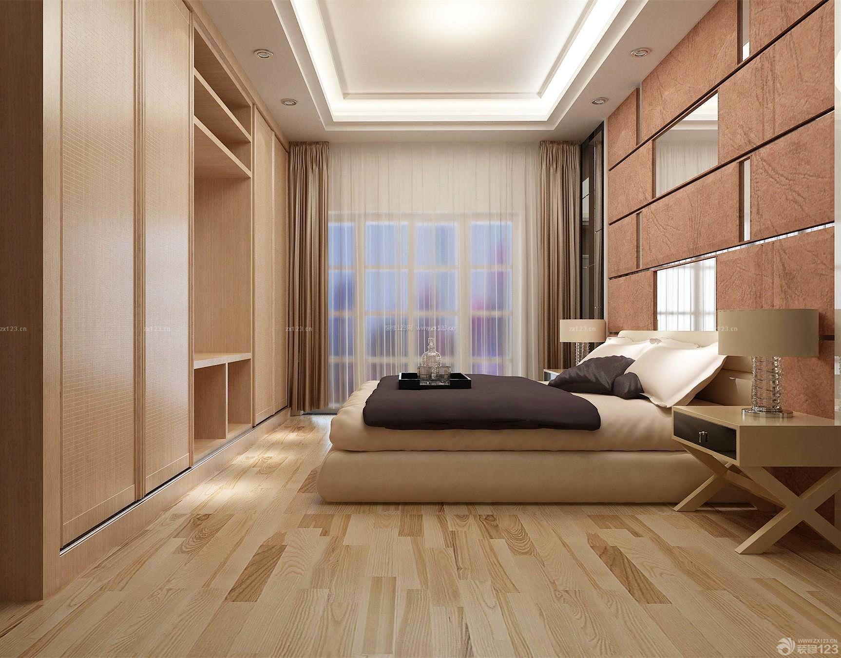 100平房子女孩温馨卧室装修效果图片